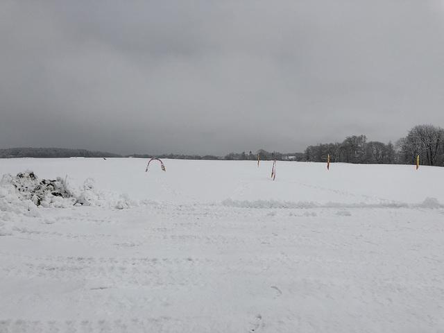 雪中ドローンレース