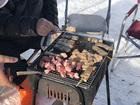 新春恒例雪中焼肉?